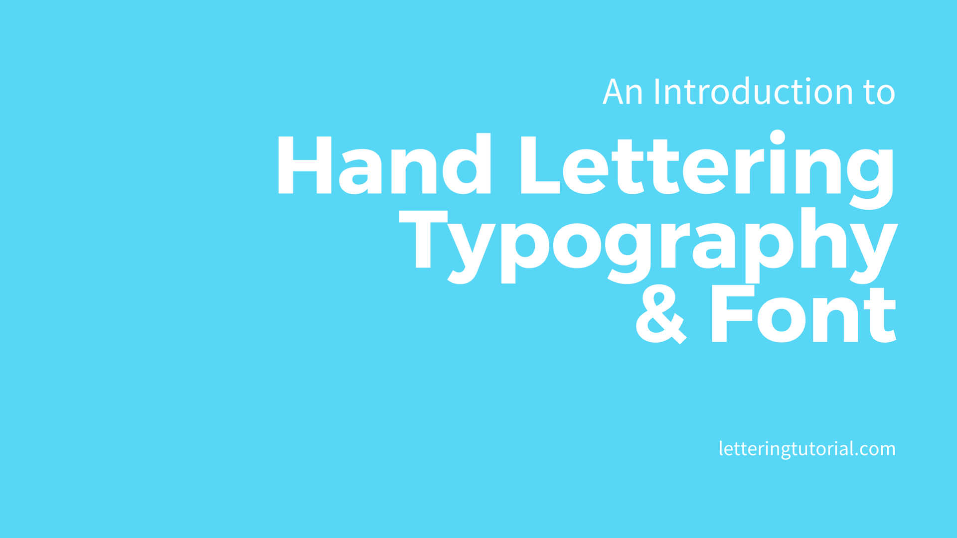 An Introduction to Hand Lettering