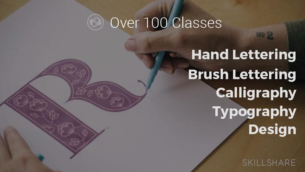 Skillshare Hand Lettering Offer