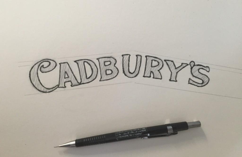Lettering A Logo Cadbury Logo - Lettering Tutorial