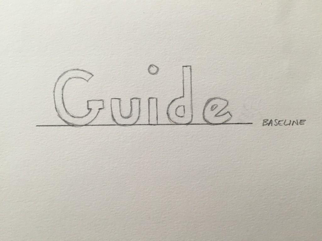 Hand Lettering Guide Baseline