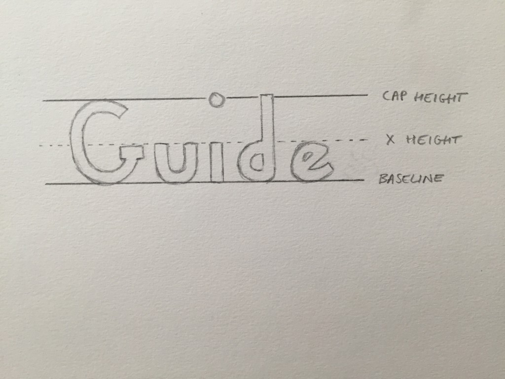 Hand Lettering Guide X Height
