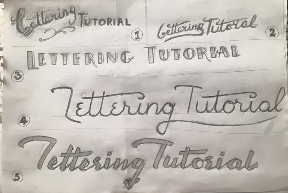 Lettering Tutorial Logo Rough Drafts