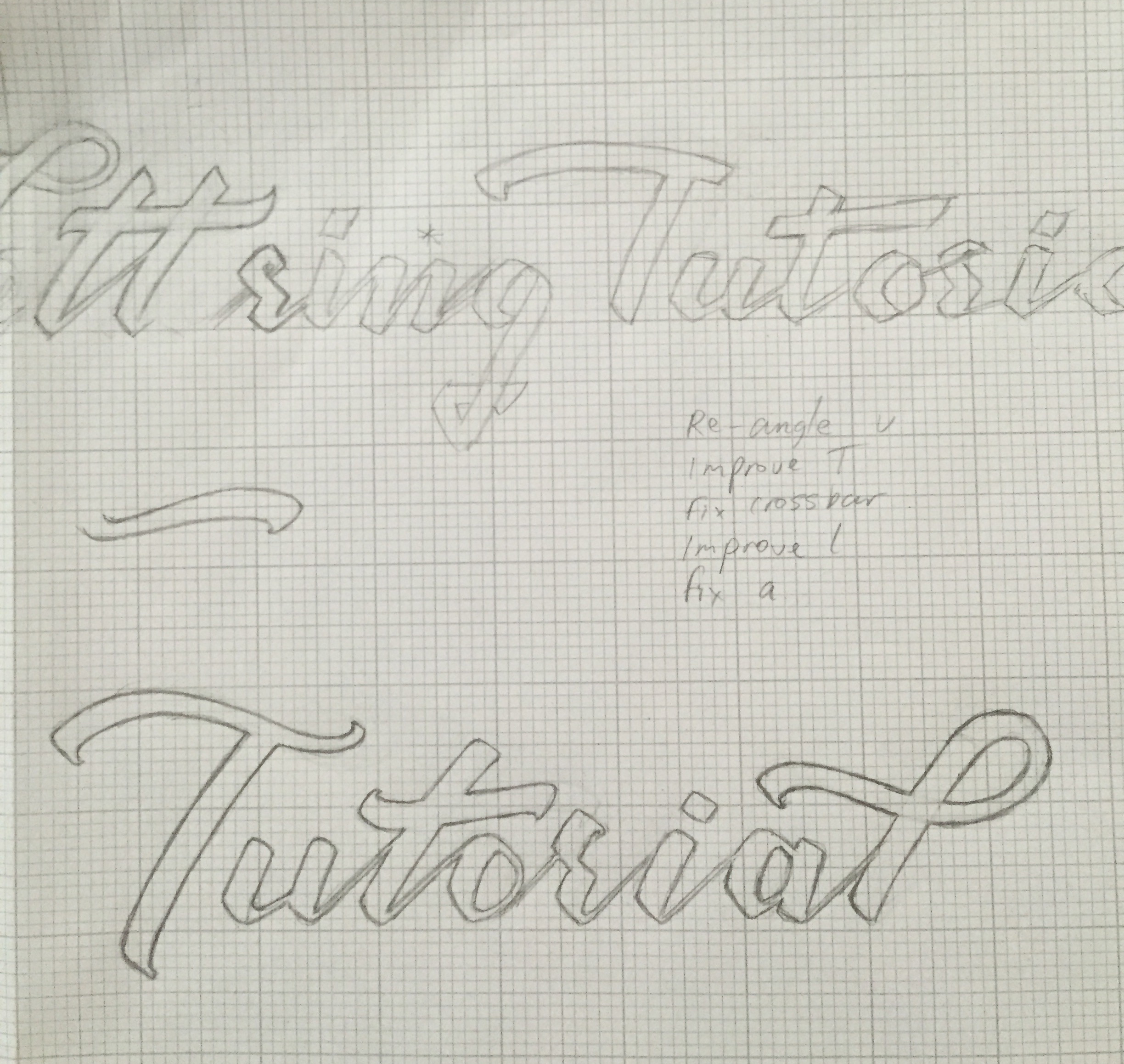Lettering Tutorial Logo Refinements