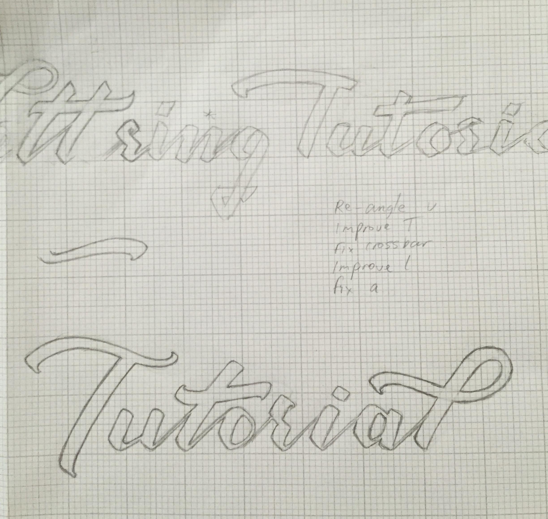Lettering Tutorial Logo Refinements