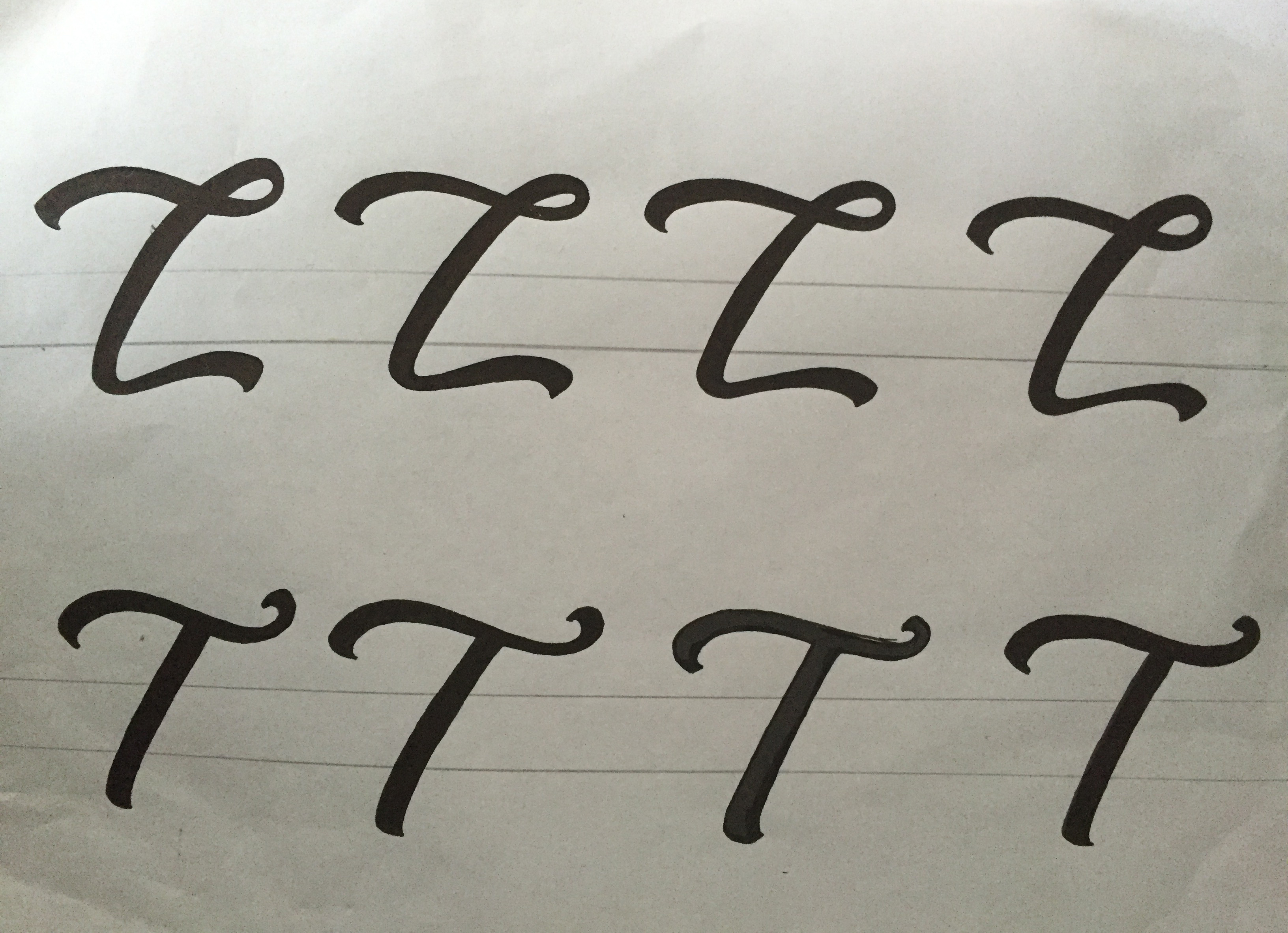 Lettering Tutorial Logo L's and T's