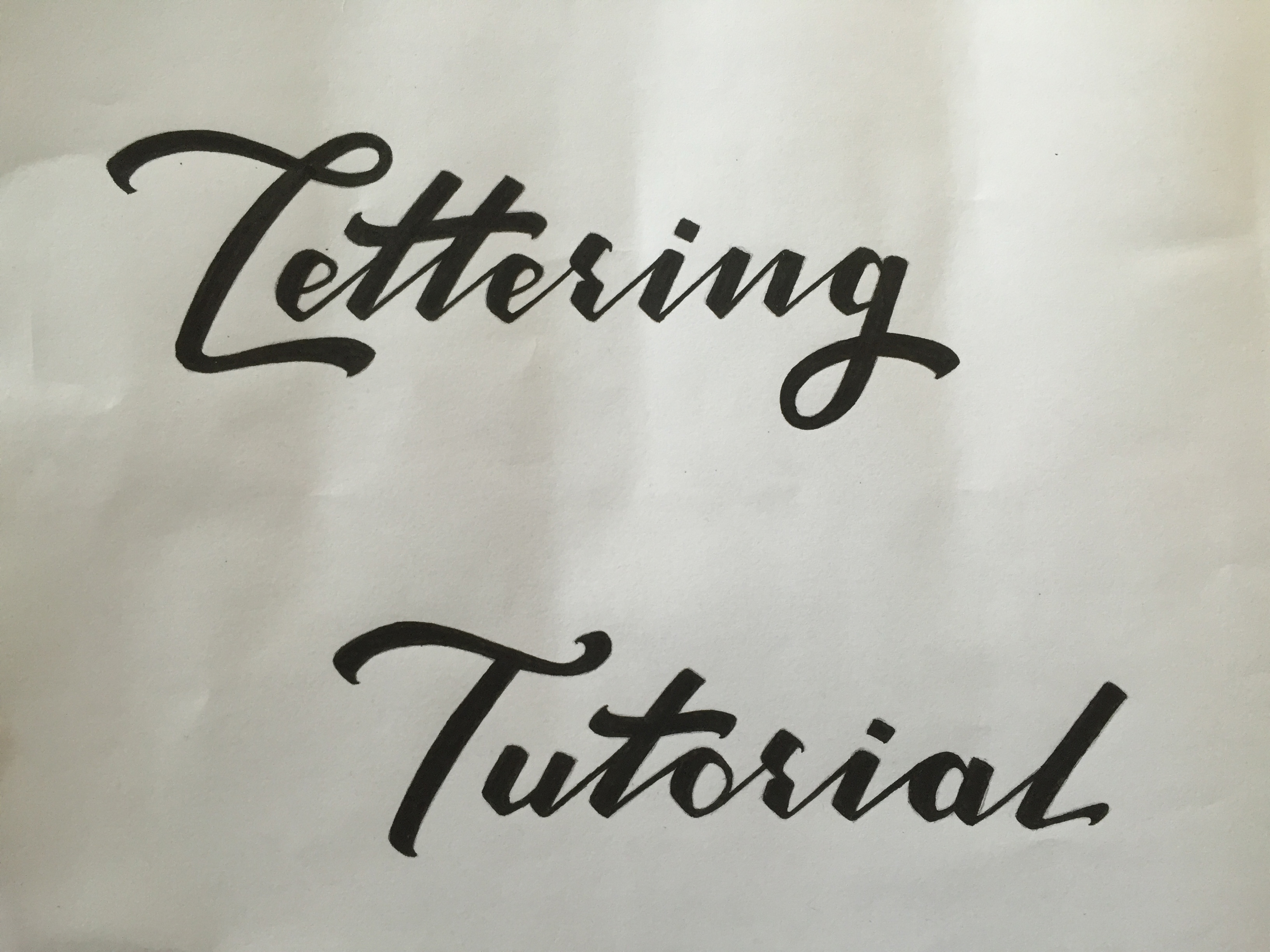 Lettering Tutorial Logo Inking
