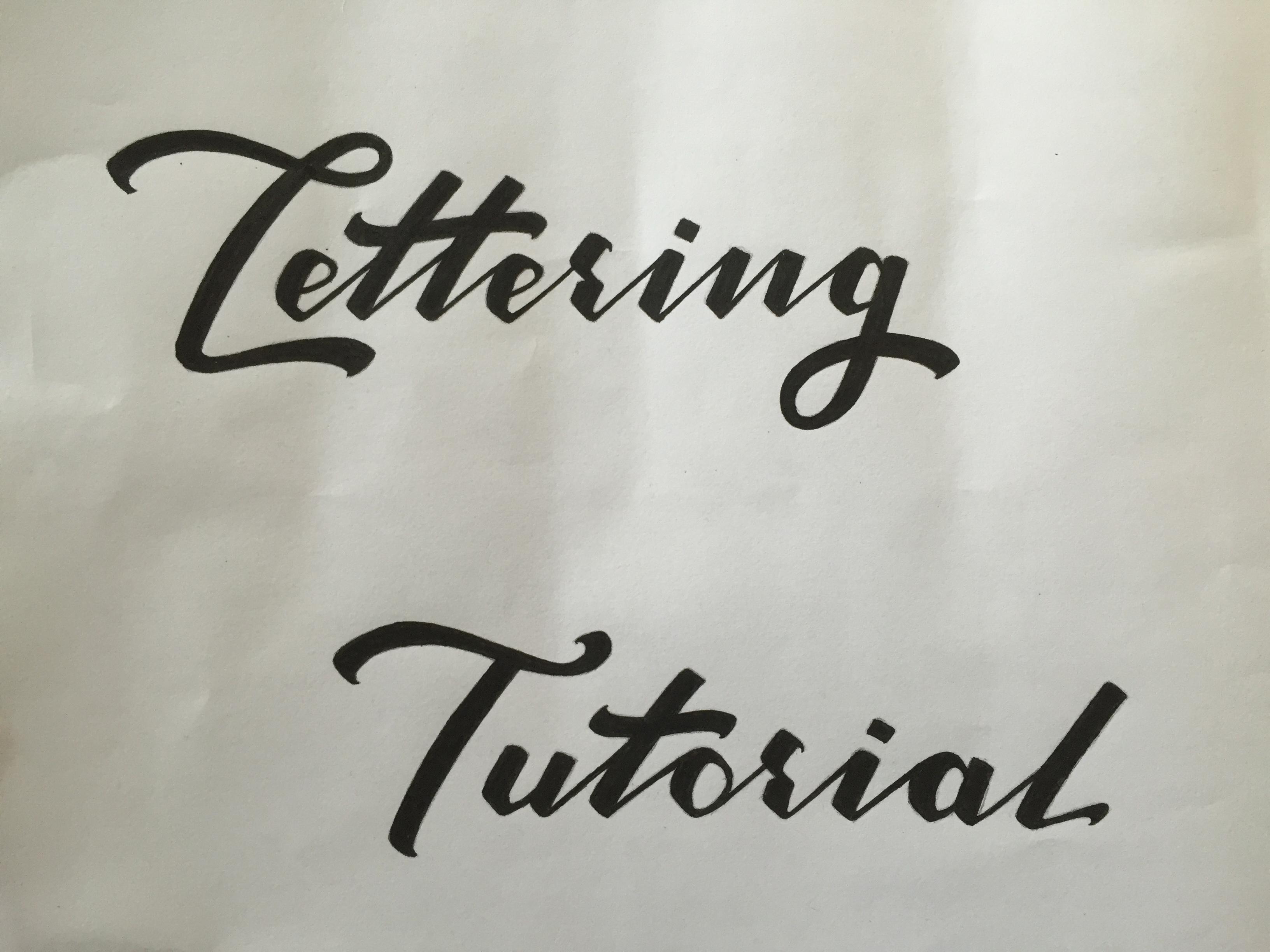 Lettering Tutorial Logo Inking