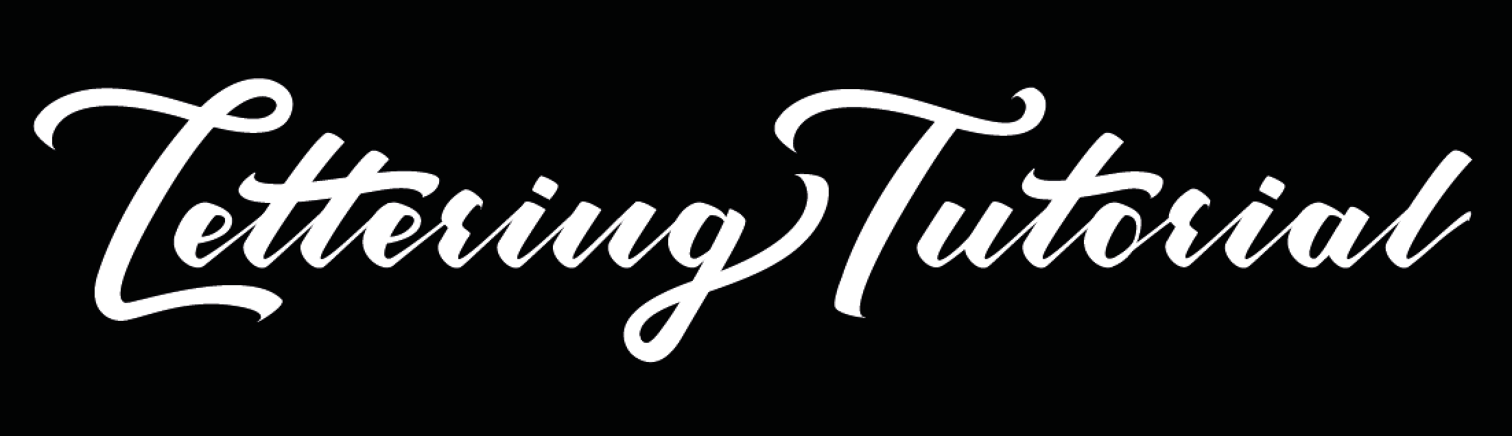 Lettering Tutorial White on Black Logo