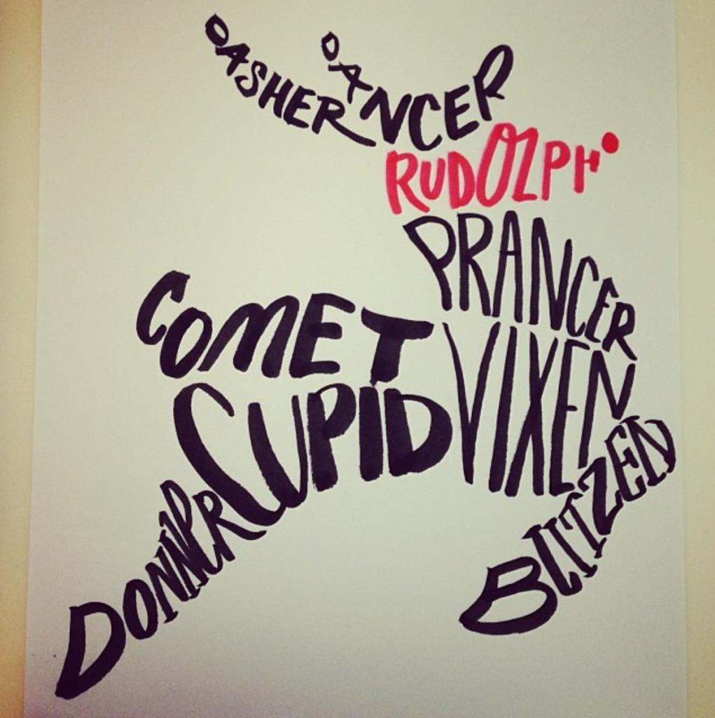 Reindeer Word Placement Emma Holmes - Lettering Tutorial