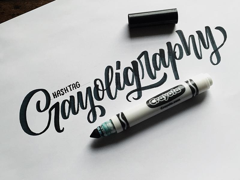 Crayoligraphy Colin Tierney - Lettering Tutorial