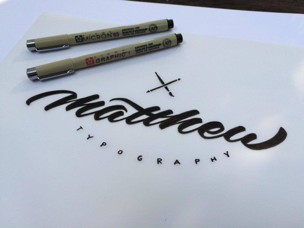 Matt Vergotis Skillshare - Lettering Tutorial