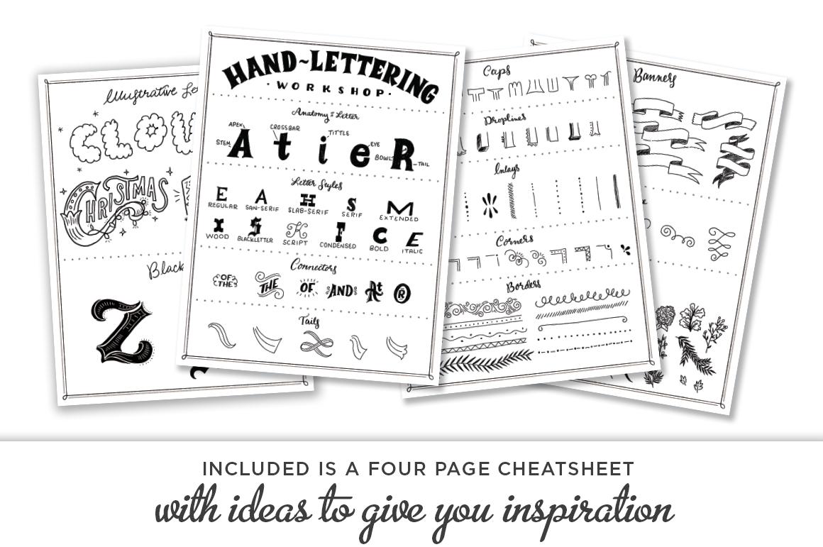 Cheatsheet Shauna Lynn RetroSupply Co - Lettering Tutorial