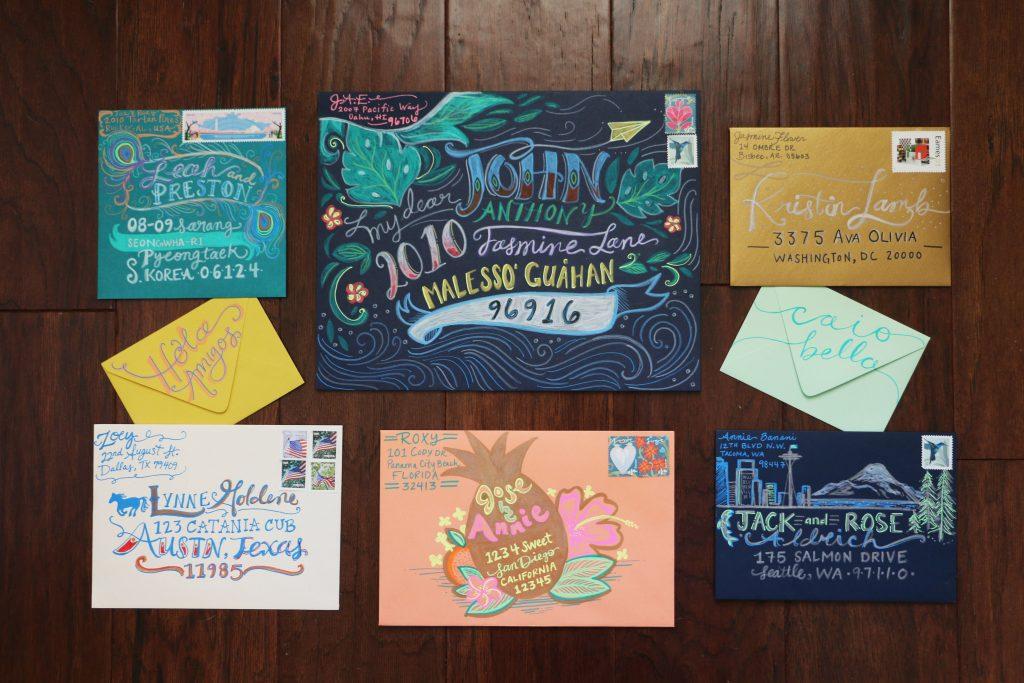 Jaclyn Escalera Envelopes - Lettering Tutorial