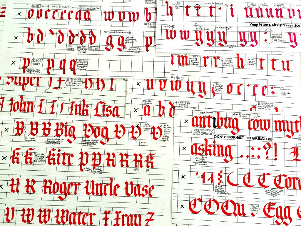 Ocac Gothic Coco Demos Cora Pearl - Lettering Tutorial