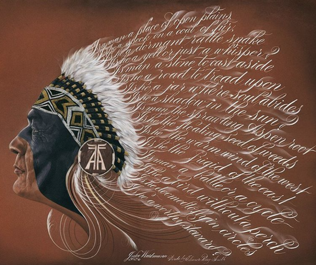 Jake Weidmann Native American Poem - Lettering Tutorial