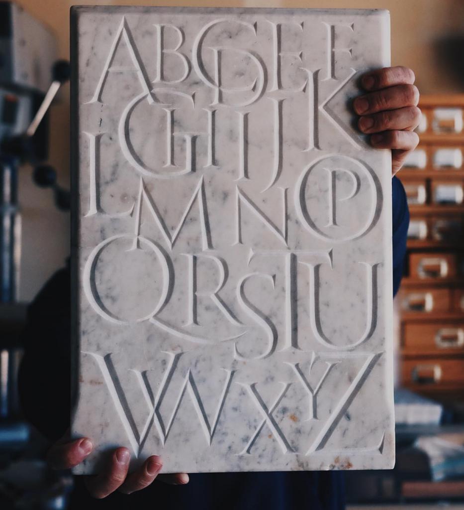 Jake Weidmann Stone Carving - Lettering Tutorial