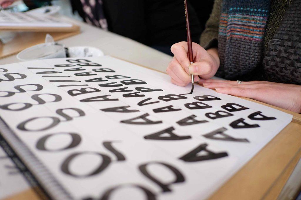 Brush Lettering Carla Hackett Barbara Enright - Lettering Tutorial