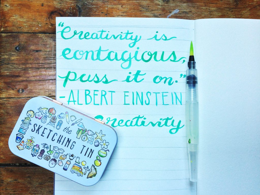 Joan of Art Brush Lettering Quote Sketching Tin - Lettering Tutorial