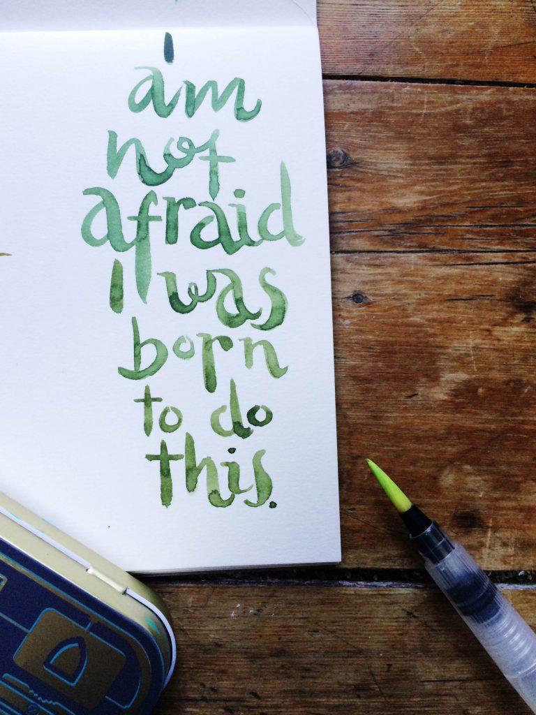 Joan of Art Brush Lettering Sketching Tin - Lettering Tutorial