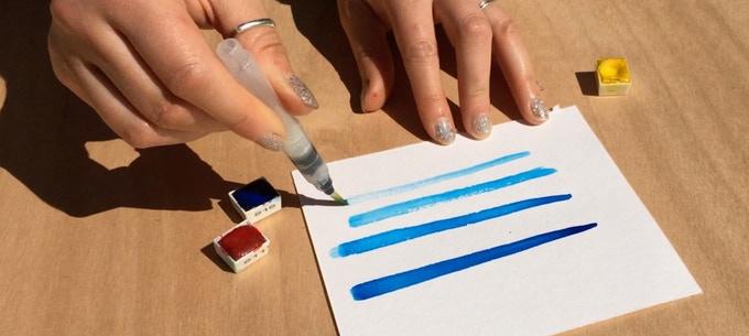 Joan of Art Brush Pen Sketching Tin - Lettering Tutorial